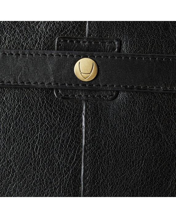 Kožená černá oboustranná aktovka HIDESIGN s vyztuženým rámem Barcelona 02