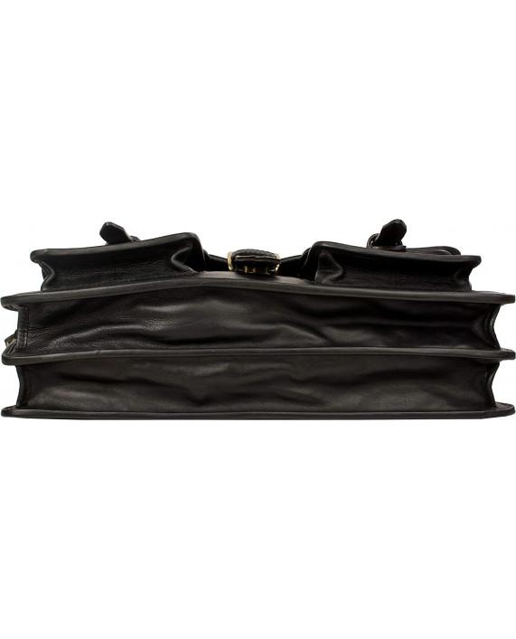 Aktovka HIDESIGN v klasickém designu z kůže Castello černá