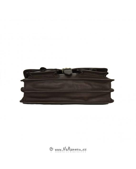 Manažerská kožená aktovka Castello tmavě hnědá od HIDESIGN