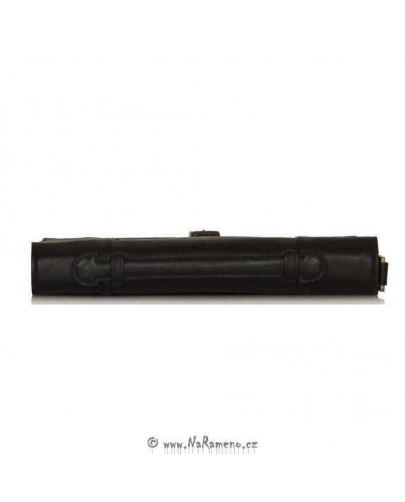 Černá kožená aktovka přes rameno na spisy Maverick 01 od HIDESIGN