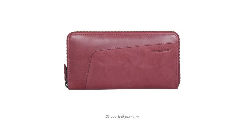 Velká kožená peněženka Aunts and Uncles na zip Amber červená
