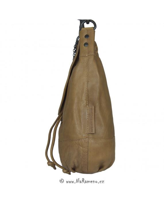 Střední dámská kabelka pytel Aunts and Uncles na dlouhý popruh přes rameno Carrot světle hnědá