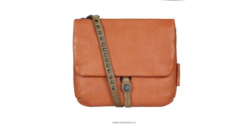 Malá kožená kabelka Aunts and Uncles na opasek nebo přes rameno Juniper oranžová