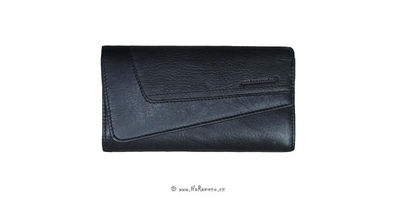 Střední dámská kožená peněženka Aunts and Uncles Macy černá