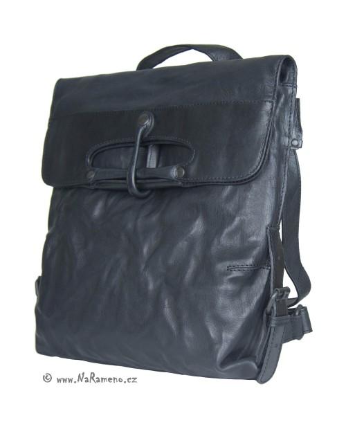 Střední kabelka jako batoh i přes rameno Aunts and Uncles z pravé kůže Mrs.Mince Pie černý