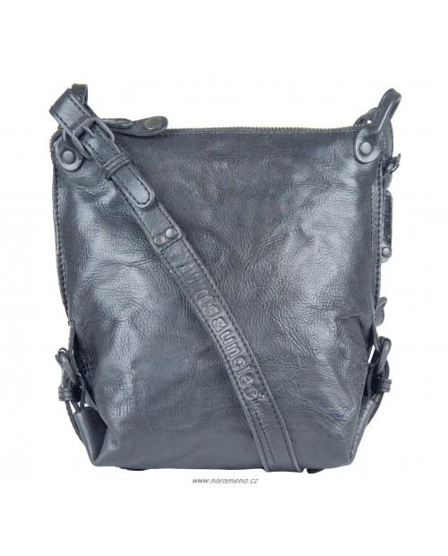 Malá černá volnočasová crossbody kabelka Aunts and Uncles z kůže Mrs.Chocolate Cookie