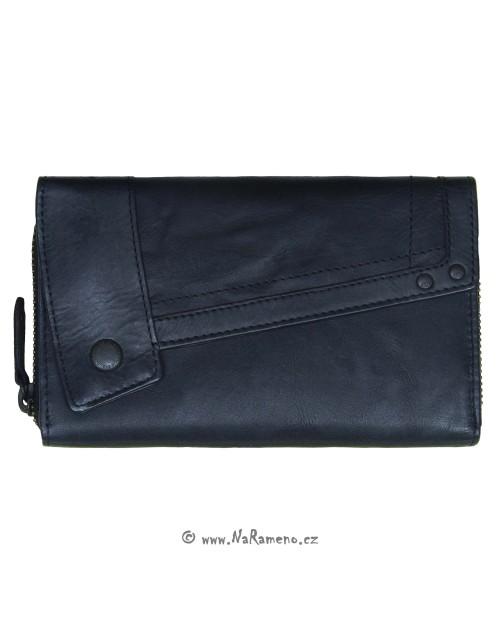 Střední dámská peněženka Aunts and Uncles na zip s překlopem Sam černá