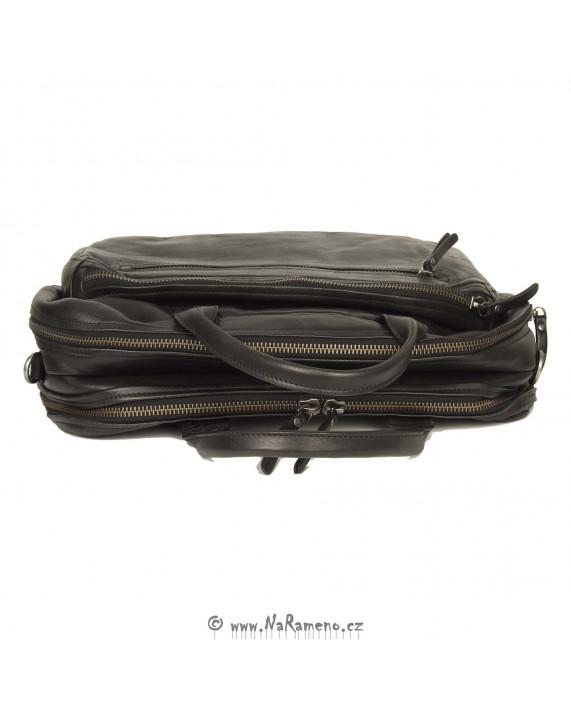 """Velká pracovní kabela Aunts and Uncles na laptop 15"""" Amplifier černá"""