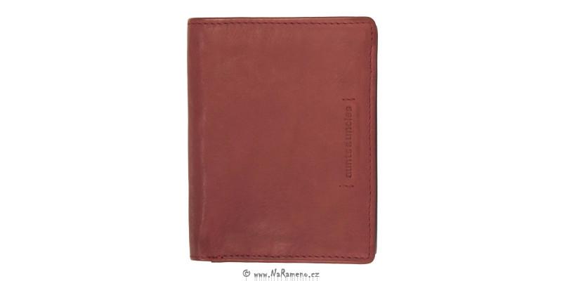 Červená unisex peněženka na karty Aunts and Uncles s kapsičkou na drobné Apple