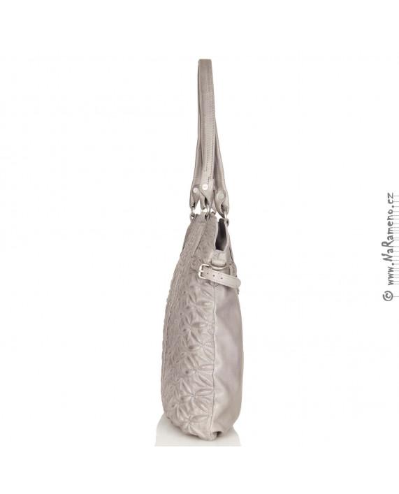 Elegantní shopper Aunts and Uncles přes rameno Blossom Quilt šedý