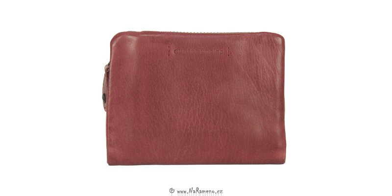 Moderní červená dámská peněženka Aunts and Uncles na výšku Cherry