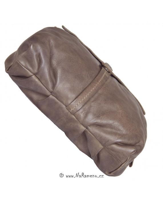 Malá dámská kabelka Aunts and Uncles z pravé kůže Chocolate Chip hnědá