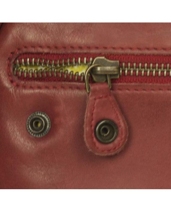 Malá kulatá kabelka Clementine od Aunts and Uncles červená