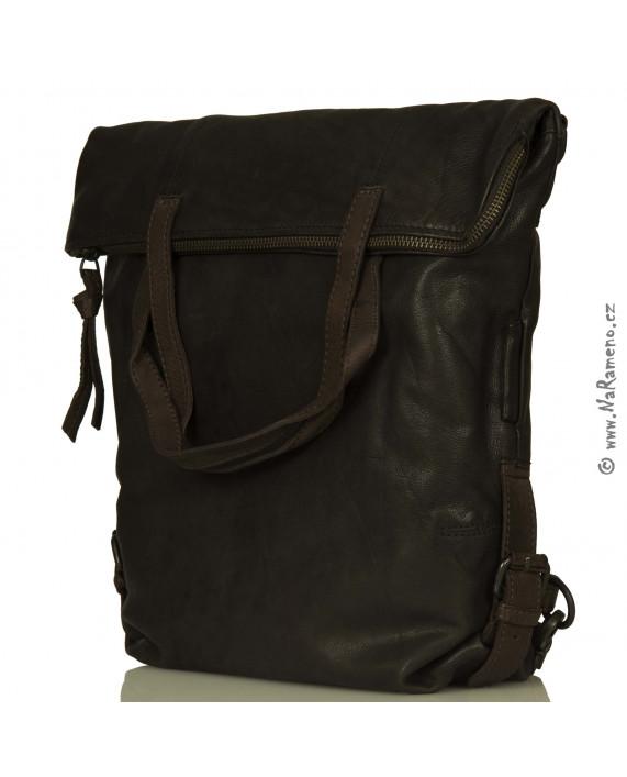 Dámský velký batoh a kabelka v jednom Aunts and Uncles z kůže Dogwood šedá