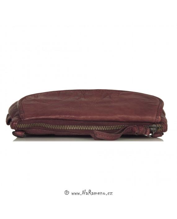 Malá kabelka pro ženy Aunts and Uncles přes rameno nebo na opasek Dragonfruit vínová
