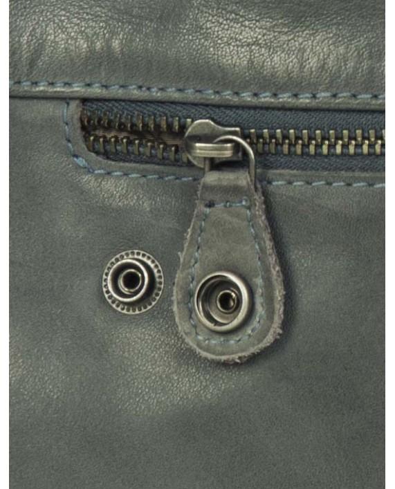 Malá kožená kabelka Aunts and Uncles Grace Chatty Soft, barva: modrý kámen