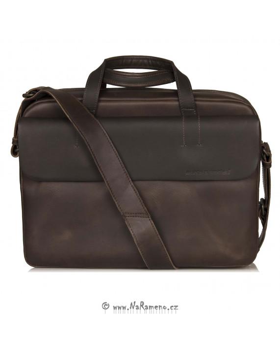Pánská taška na laptop Aunts and Uncles Kyle tmavě hnědá