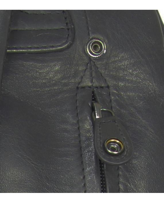 Větší tmavě modrý business batoh Lead Guitar z hladké kůže od Aunts and Uncles