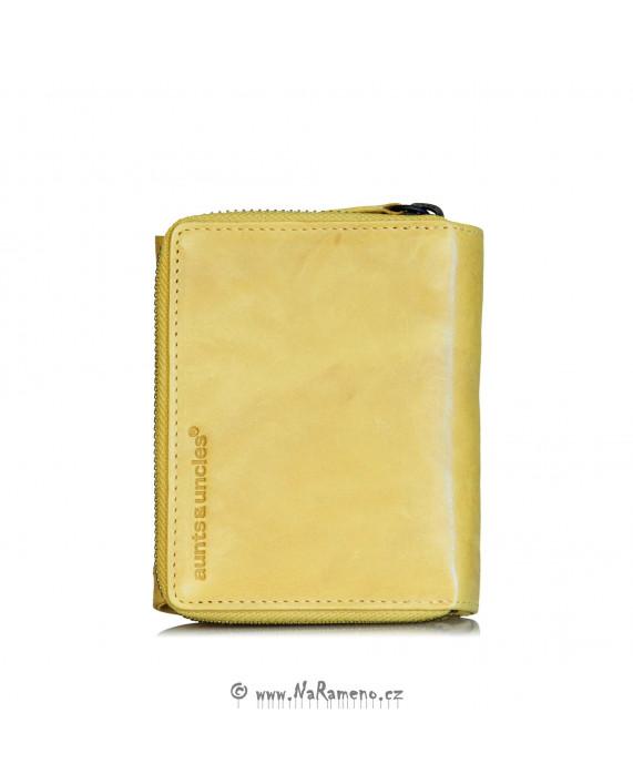Malá peněženka Aunts and Uncles pro ženy na zip Lotta, barva: citron-kari