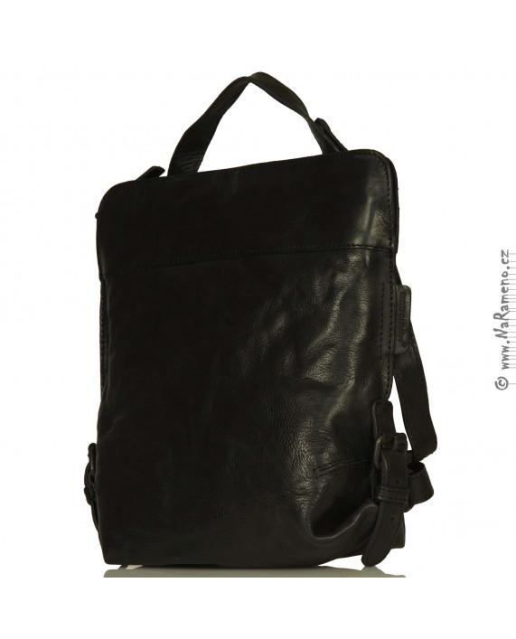 Dámský černý kožený batůžek/kabelka v jednom Mrs. Crumble Cookie od Aunts and Uncles
