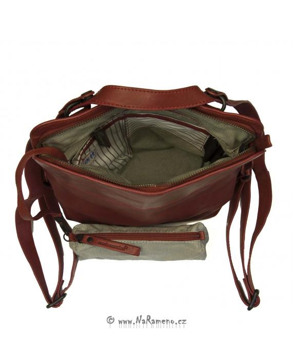 Malý červený městský batoh a taška 2v1 Mrs. Crumble Cookie od Aunts and Uncles