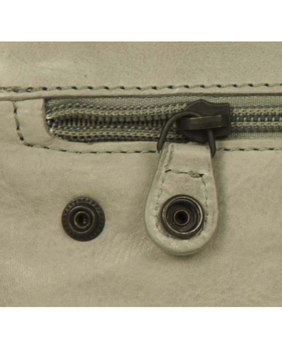 Malá šedá kabelka listonoška Aunts and Uncles z pravé kůže Mrs. Lime Puff