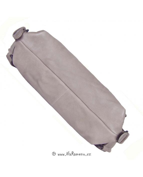Střední kabelko-batoh 3v1 Aunts and Uncles kožený Mrs.Mince Pie šedý