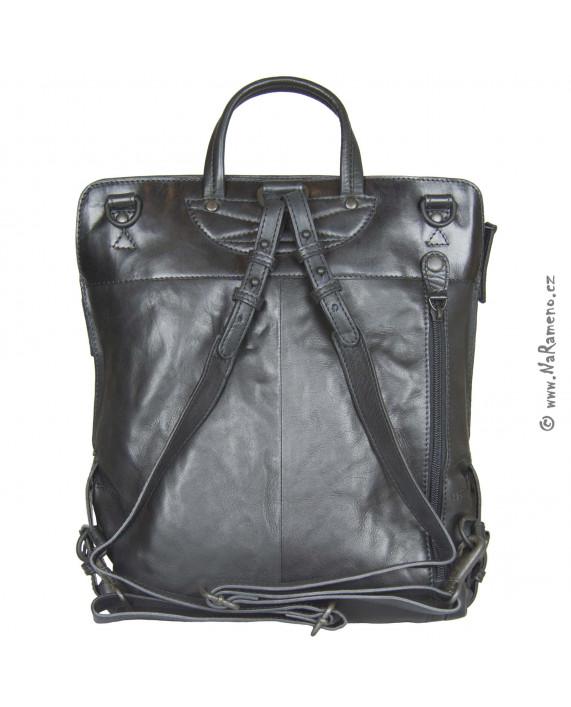 Velká kabelka jako batoh i na rameno Aunts and Uncles Mrs.Pear Pie černá