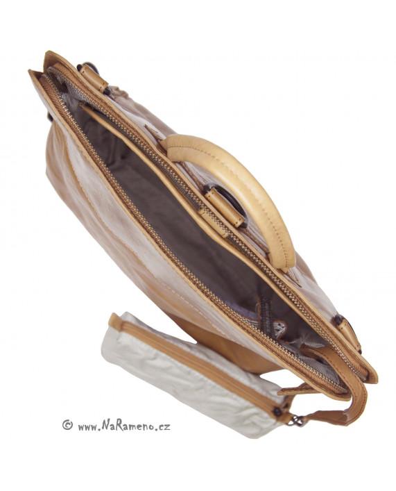 Větší kabelko-batůžek Aunts and Uncles Mrs.Pear Pie karamelové barvy