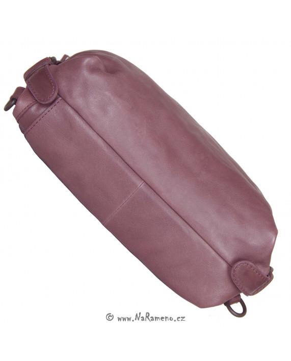 Velký kabelko-batoh 3v1 Aunts and Uncles z pravé kůže Mrs.Pear Pie vínový