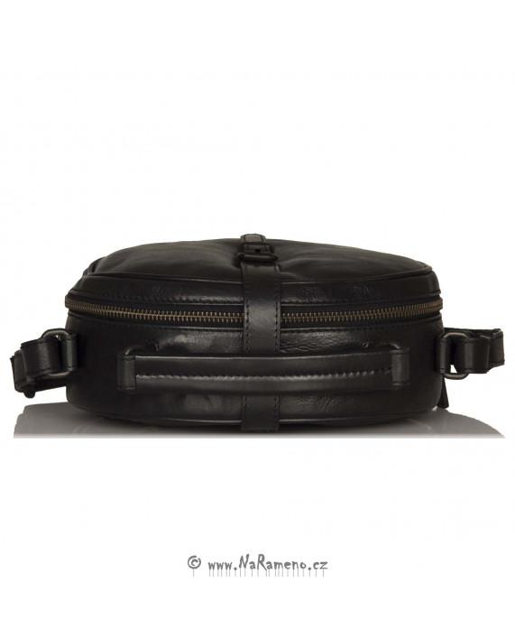 Oválná malá kabelka Aunts and Uncles Mrs. Plum Pie černá