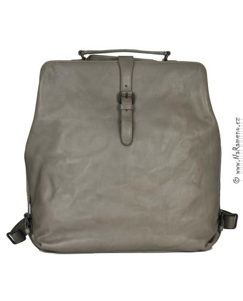 Retro batoh na záda nebo kabelka přes rameno 3 v 1 Mrs. Sprinkle Tart šedá od Aunts and Uncles