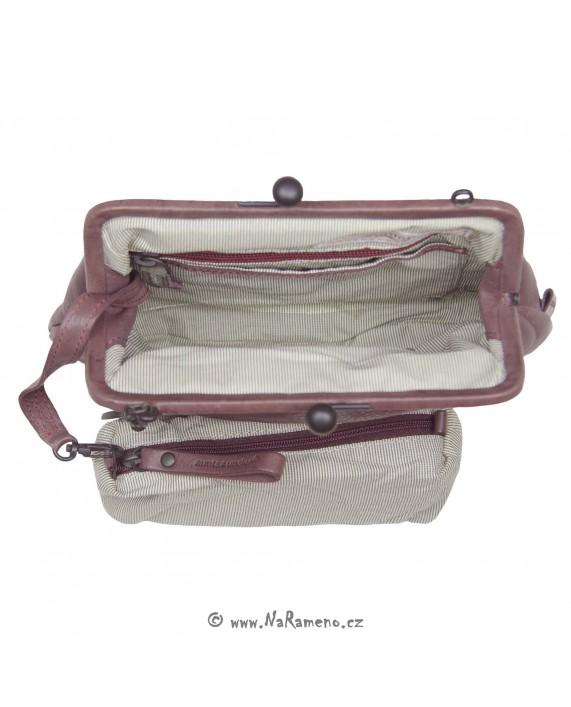 Malá kabelka Aunts and Uncles s rámem Miss Fairy Cake přes rameno nebo do ruky vínová