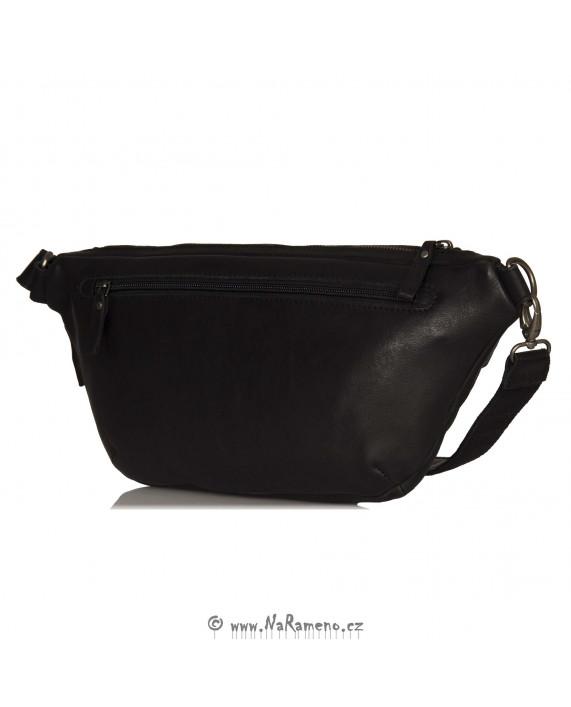 Velká náprsní sling taška Aunts and Uncles černá ledvinka Old Dutch