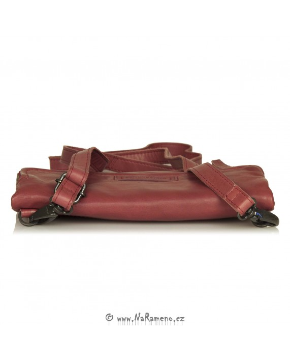 Malá červená kabelka Aunts and Uncles skládácí psaníčko Orangine