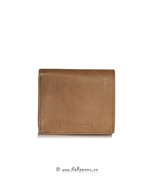 Minimalistická koňaková peněženka Pear od Aunts and Uncles
