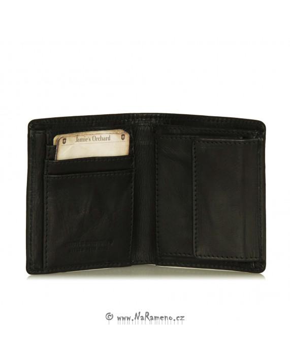 Malá černá peněženka Pear s kapsou na drobné od Aunts and Uncles