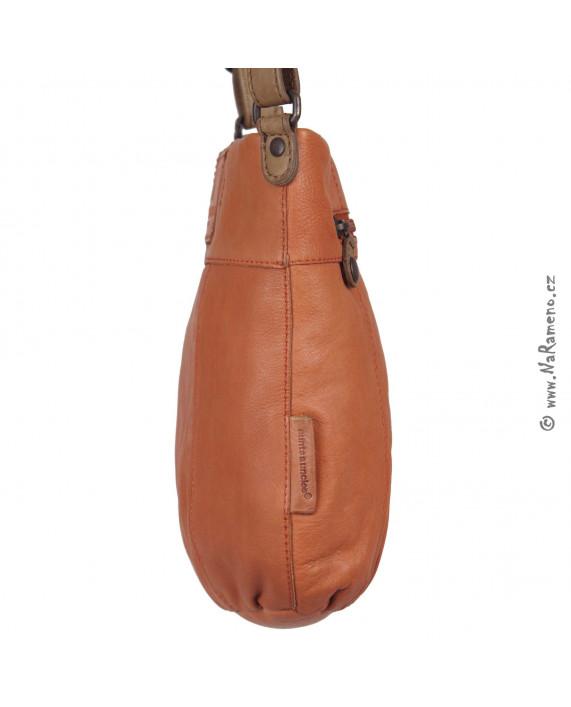 Střední kožená kabelka Aunts and Uncles přes rameno Pepper oranžová