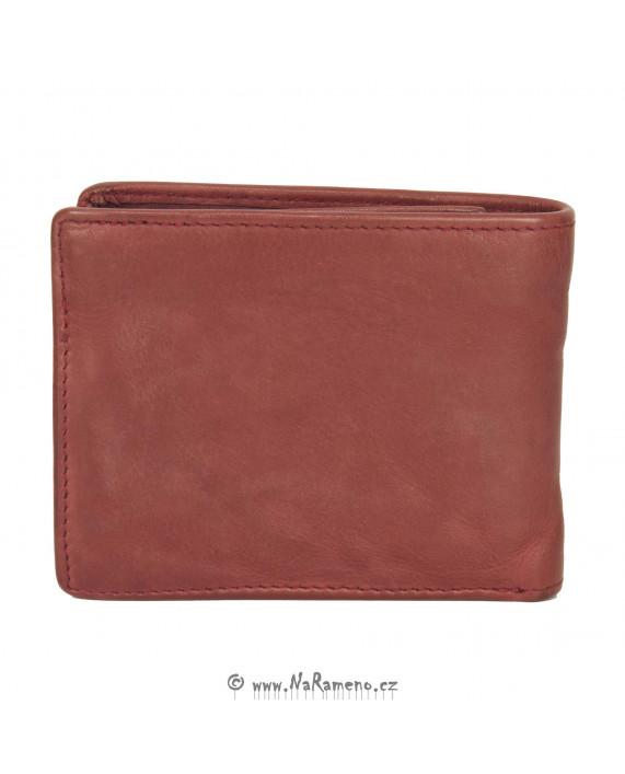 Červená peněženka Aunts and Uncles na karty s kapsičkou na drobné Plum