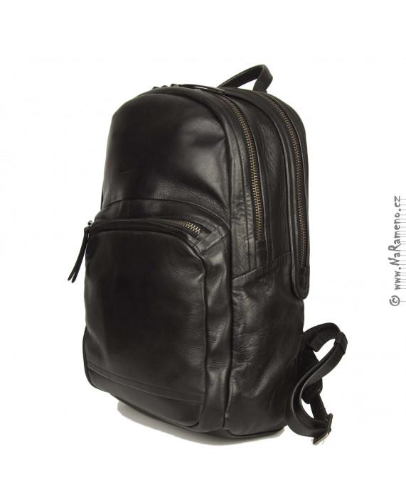 Velký městský černý kožený batoh Aunts and Uncles pro může Subwoofer