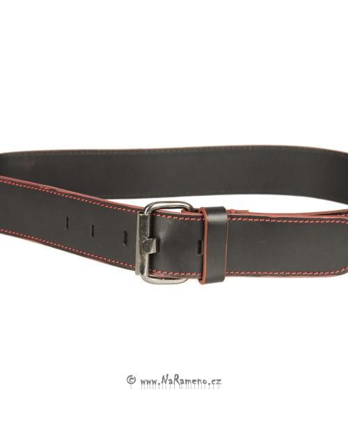 Sportovní kožený široký pásek HIDESIGN Edge černý