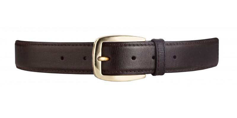 Džínový pásek HIDESIGN s ražbou a matnou stříbrnou sponou JOE černý