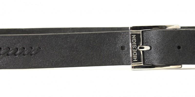 Pásek HIDESIGN do kalhot z jednoho kusu kůže SFB-01 černý