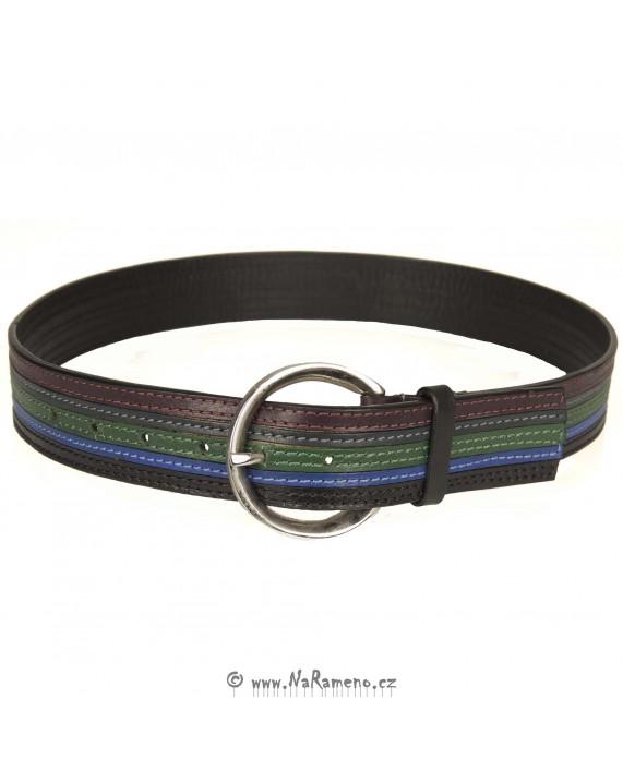 Dámský vícebarevný pásek HIDESIGN s velkou sponou SS10W01