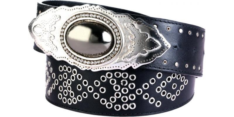 Kožený pásek HIDESIGN k šatům s korálky černý SS10W07 černý