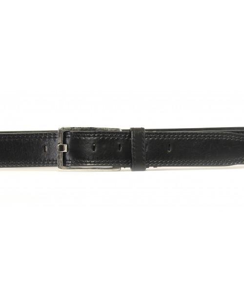 Kalhotový opasek HIDESIGN s otevřenou obdélníkovou přezkou VERSAILLES černý