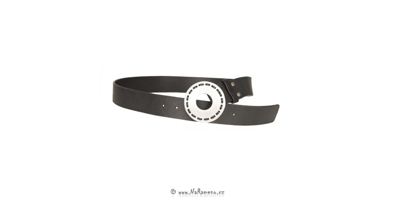 Pásek HIDESIGN k šatům nebo džínám WB-11 černý