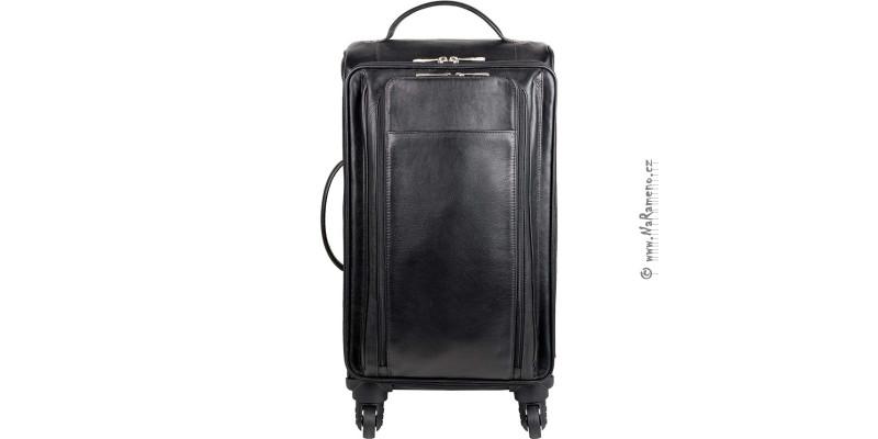 Kožené cestovní zavazadlo HIDESIGN na 4 kolečkách Alamo černý