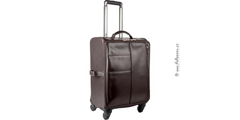 Palubní kožený kufr HIDESIGN na 4 kolečkách Gear 02 tmavě hnědý