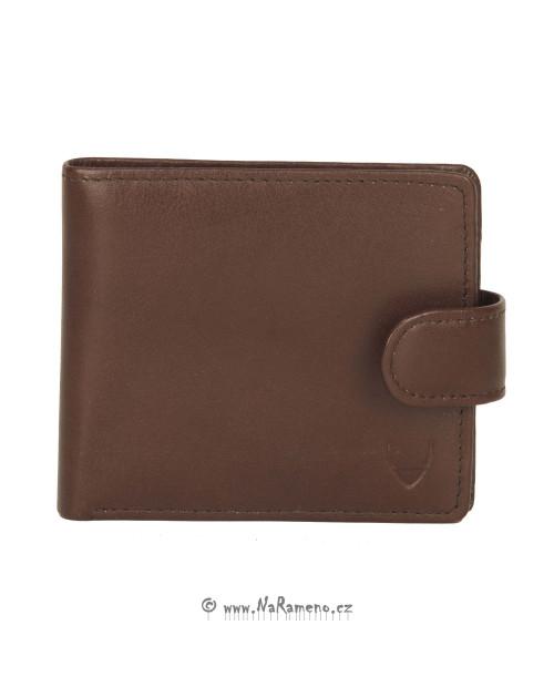 Světle hnědá pánská peněženka HIDESIGN se zapínáním na patent 010
